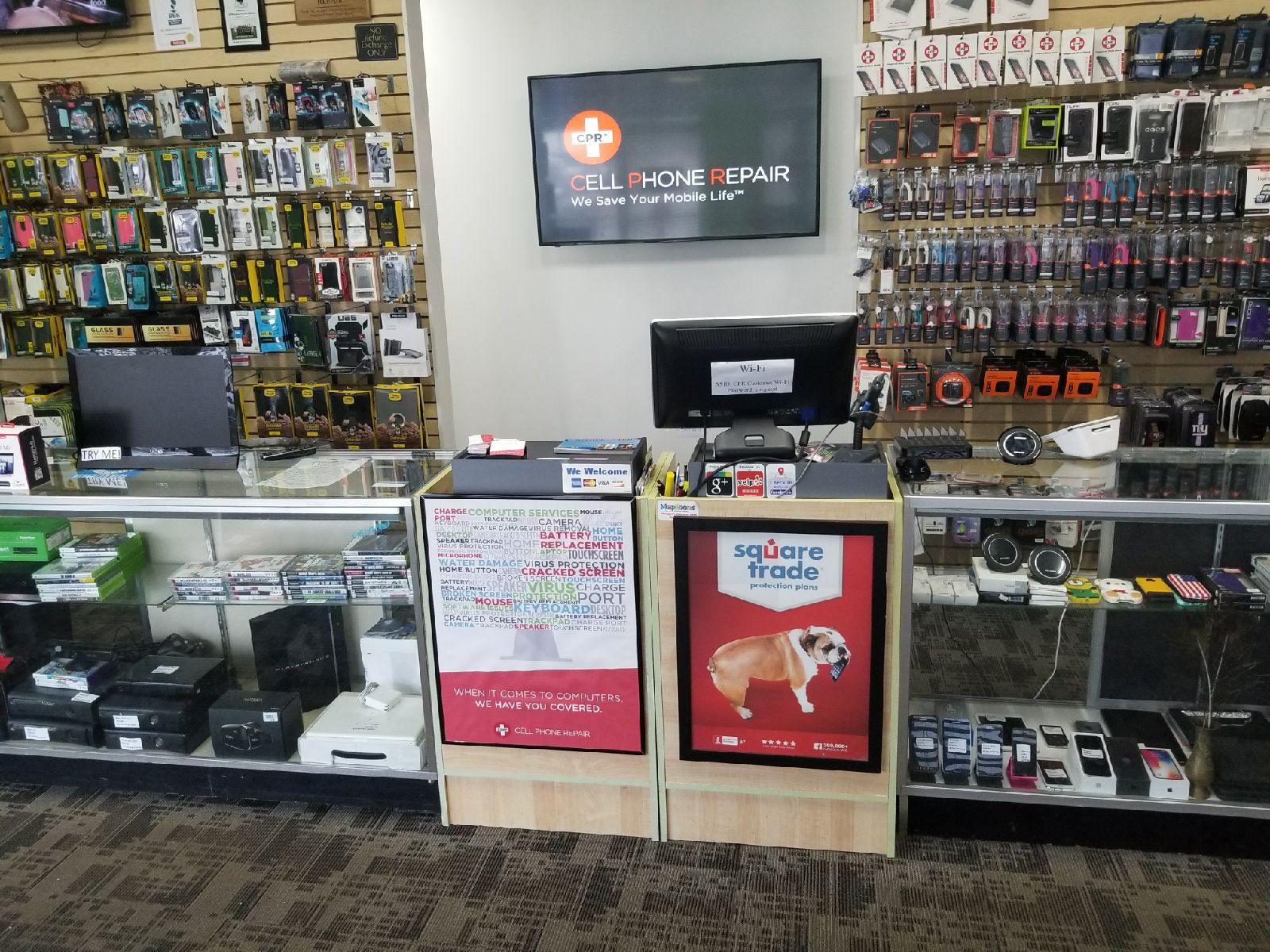 cpr cell phone repair Amityville NY - store interior