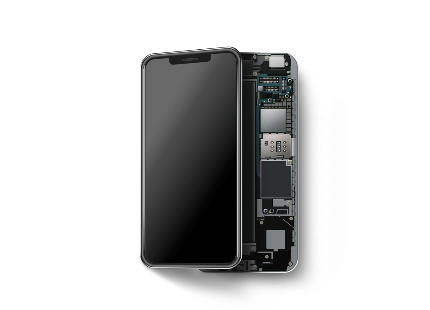 inside look at a smartphone