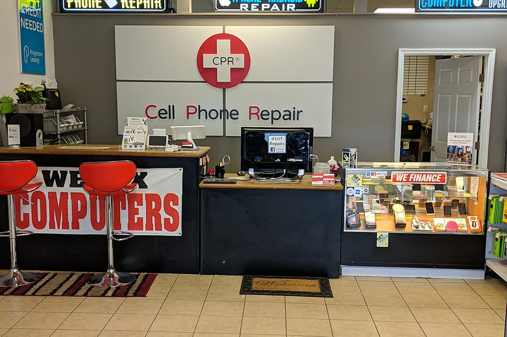 CPR Cell Phone Repair Fayetteville Raeford Road NC - store interior
