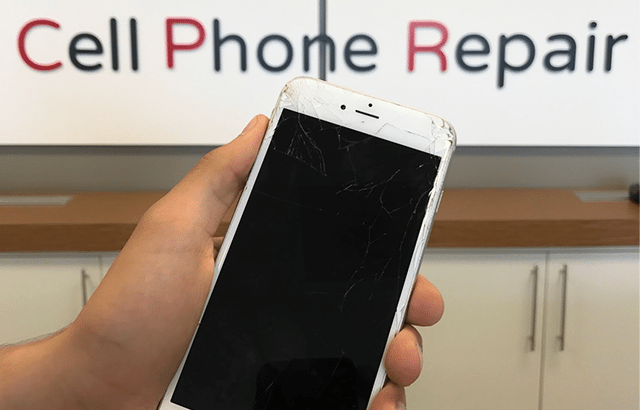 image of cracked iphone screen - CPR Vancouver - West Broadway, BC
