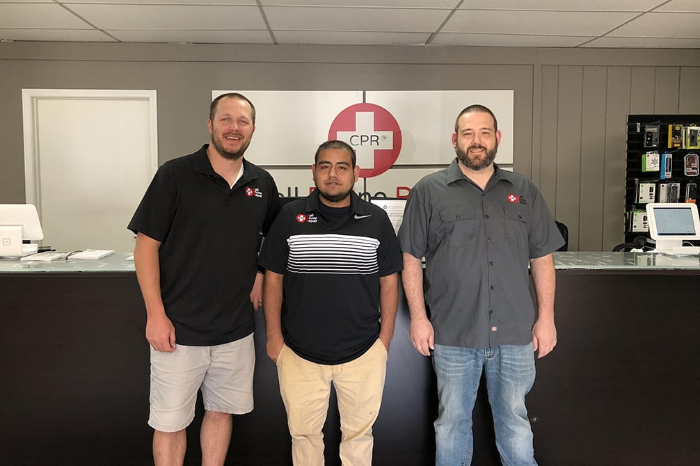 image of cell phone repair technicians at west des moines IA