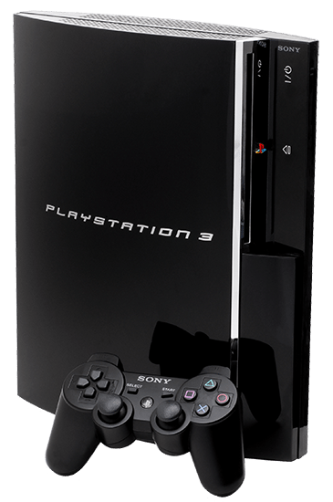 broken sony playstation 3 console with controller
