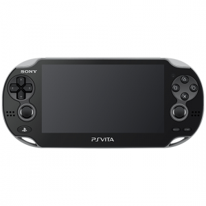 broken handheld playstation vita device