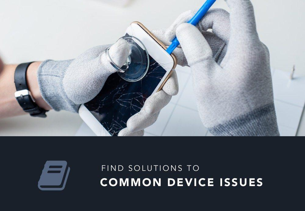 find solutions to common device issues