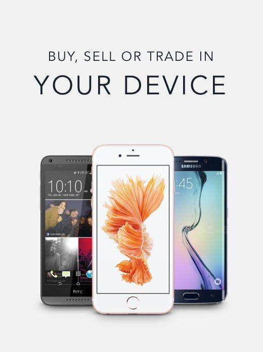 buy, sell or trade in your device banner