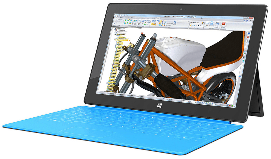 damaged microsoft surface pro 4 needing repair services by cpr