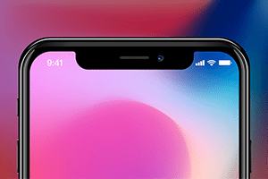 close up of iphone x features