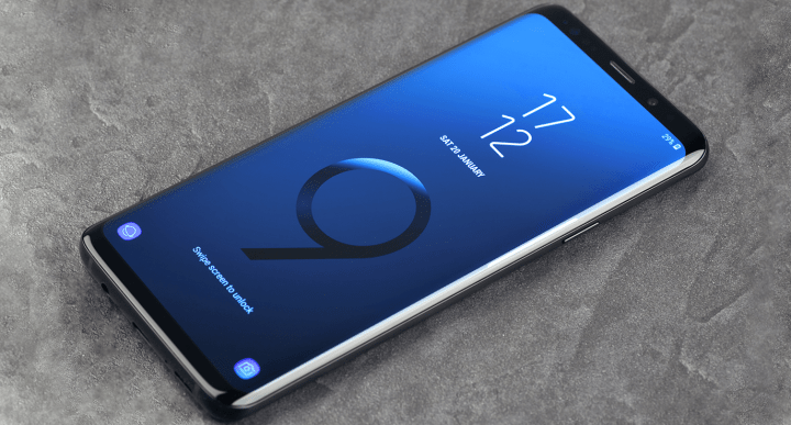 front view of samsung galaxy s9 display