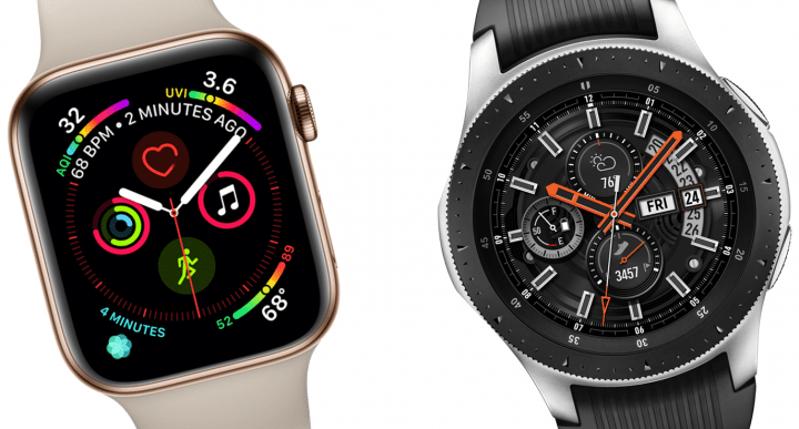 apple watch 4 and samsung galaxy watch faces