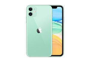 front and back view of a green iPhone 11